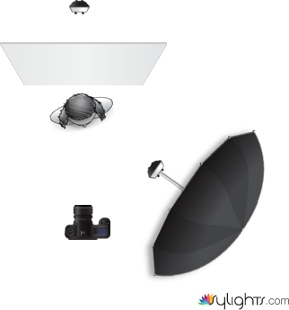 Simple 2 light high key lighting diagram by allen mowery sylights simple 2 light high key by allen mowery ccuart Image collections